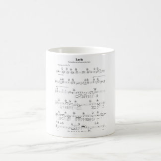 Layla Chords Coffee Mug