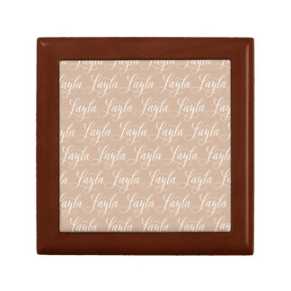 Layla - Modern Calligraphy Name Design Small Square Gift Box