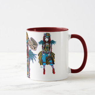 """Layla"" Steampunk Circus Tattoo Sideshow Mug"