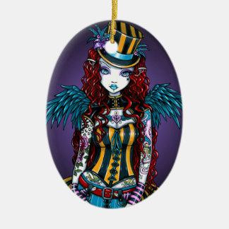 """Layla"" Steampunk Circus Tattoo Sideshow Ornament"