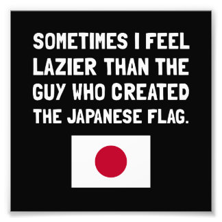 Lazier Japanese Flag Photo Print