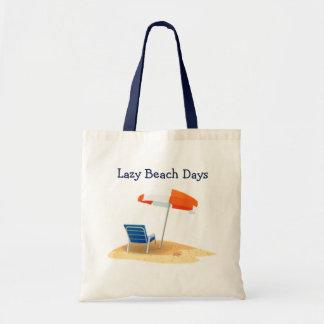 Lazy Beach Days Beach Scene Budget Tote Bag