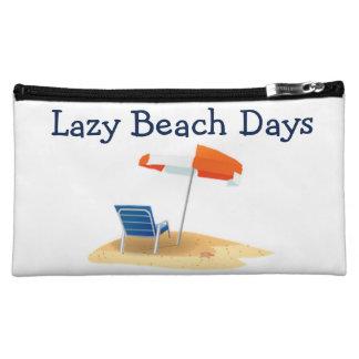 Lazy Beach Days Beach Scene Cosmetic Bags
