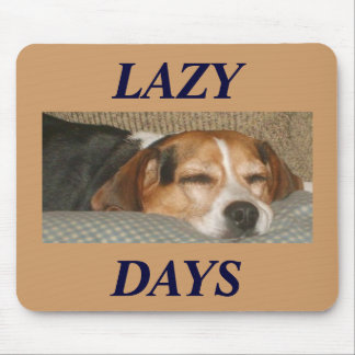 Lazy Beagle Mouse Pad
