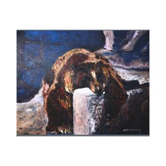 Lazy Bear 20x16 Canvas Print