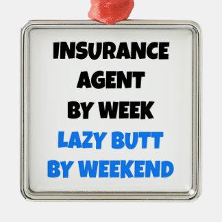 Lazy Butt Insurance Agent Metal Ornament