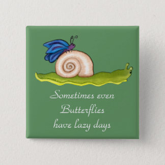 Lazy Butterfly 15 Cm Square Badge