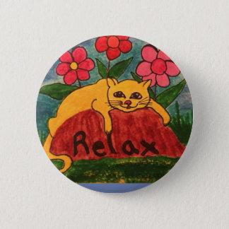 Lazy Cat 6 Cm Round Badge