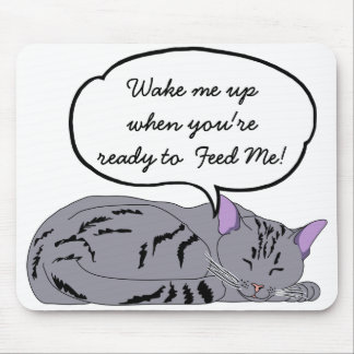 Lazy Cat, Cat Nap Dream, Humorous Mouse Pad