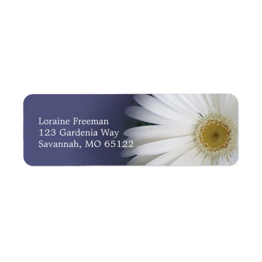 Lazy Daisy Label Return Address Label