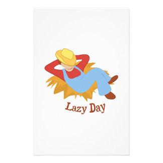 Lazy Day Personalized Stationery