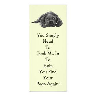 "Lazy Dog BOOK MARK: ""Tuck Me In"" 10 Cm X 24 Cm Invitation Card"