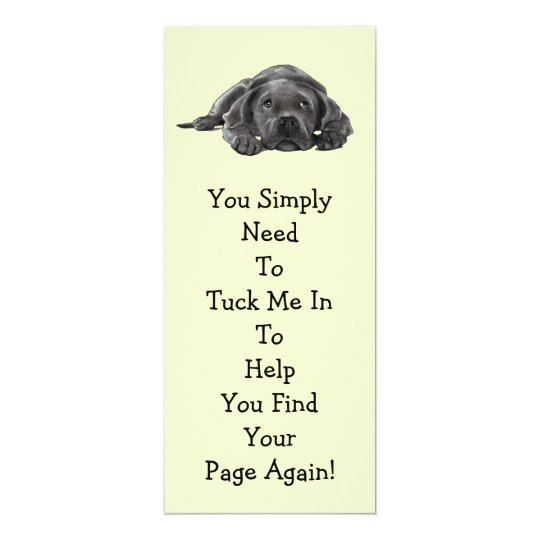"Lazy Dog BOOK MARK: ""Tuck Me In"" Card"