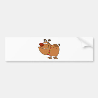 Lazy Dog Cartoon Character Bumper Sticker