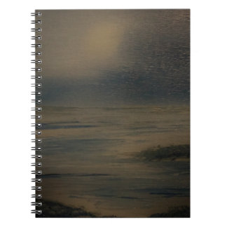 lazy evening at the beach notebook