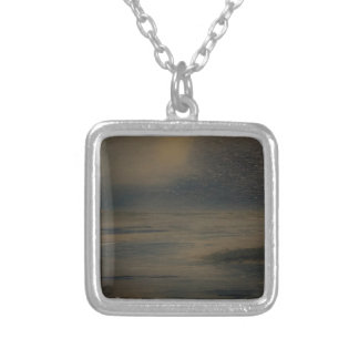 lazy evening at the beach silver plated necklace