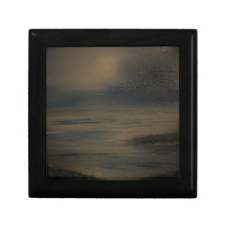 lazy evening at the beach small square gift box
