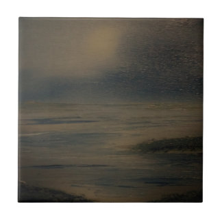 lazy evening at the beach small square tile