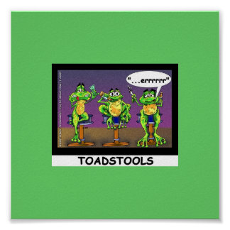 Lazy Frogs aka Toadstools Funny Poster Posters
