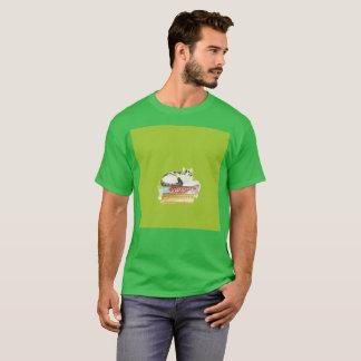Lazy Gato Adventures Art Watercolor Rare T-Shirt