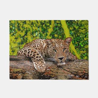 Lazy Leopard Doormat