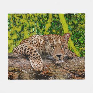 Lazy Leopard Fleece Blanket