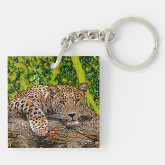 Lazy Leopard Key Ring