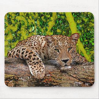 Lazy Leopard Mouse Pad