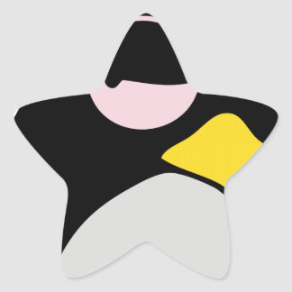 LAZY LINUX TUX PENGUIN STAR STICKERS
