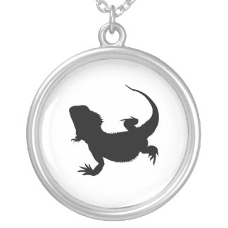 Lazy Lizard Silver Plated Necklace