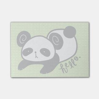 lazy panda sticky notes