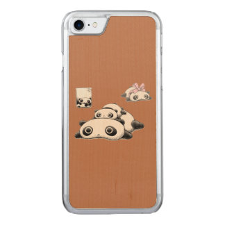 Lazy Pandas Carved iPhone 8/7 Case