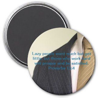 Lazy People 7.5 Cm Round Magnet