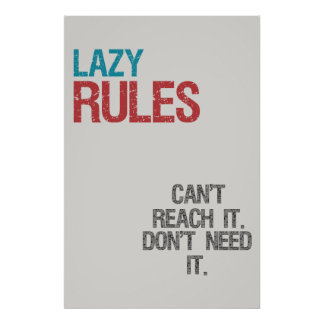 Lazy rules print