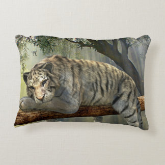 Lazy Siberian Tiger Decorative Cushion