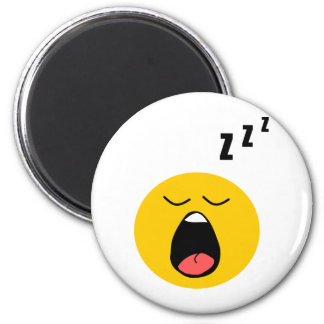 Lazy sleeping smiley magnet