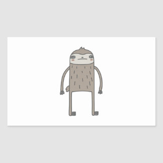 Lazy Sloth Rectangular Sticker