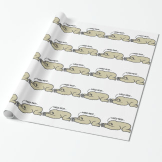 Lazy Sloth Wrapping Paper