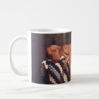 Lazy Vizsla needing coffee Coffee Mug