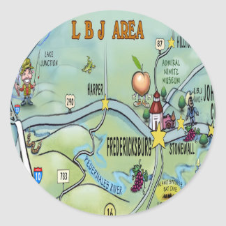 LBJ Area Classic Round Sticker