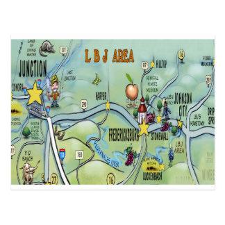 LBJ Area Postcard