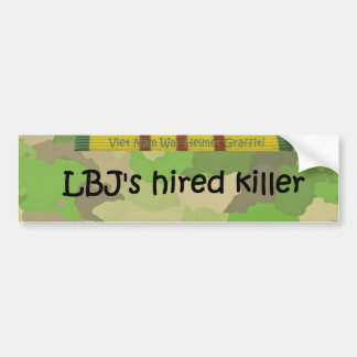 LBJ's hired killer Bumper Sticker