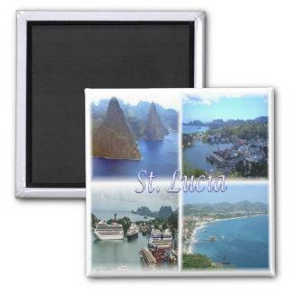 LC * Saint Lucia Square Magnet