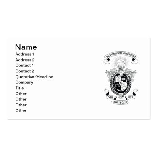 LCA Coat of Arms B+W Pack Of Standard Business Cards