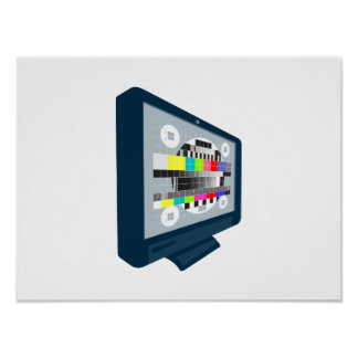 LCD Plasma TV Television Test Pattern Posters