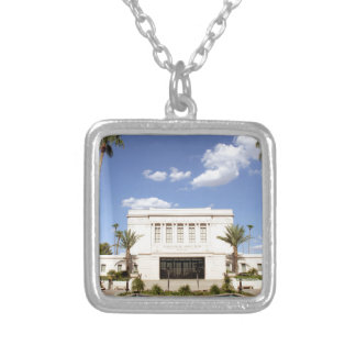 lds mesa arizona temple mormon picture silver plated necklace