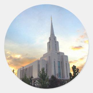 LDS mormon Oquirrh Mountain Utah temple Classic Round Sticker