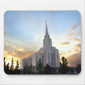 LDS mormon Oquirrh Mountain Utah temple Mouse Pad