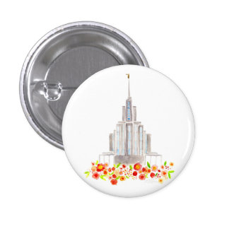 LDS Oquirrh Mountain Temple Watercolor button