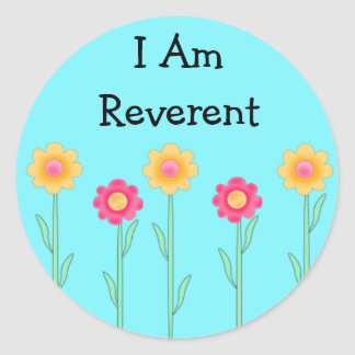 LDS Primary Stickers - I Am Reverent